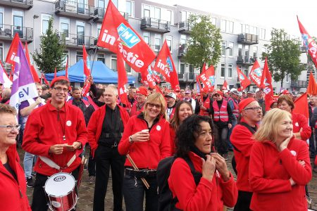 FNV demonstratie Rotterdam 2015