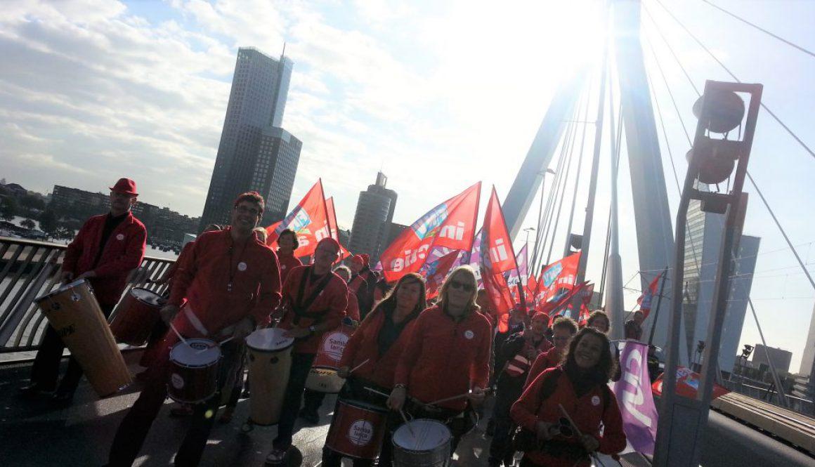 FNV demonsstratie Rotterdam 2015 03